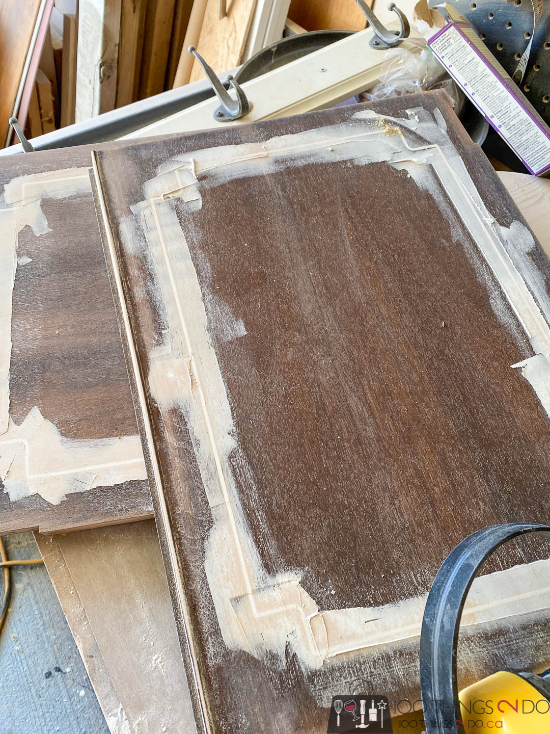 filling router details with wood filler