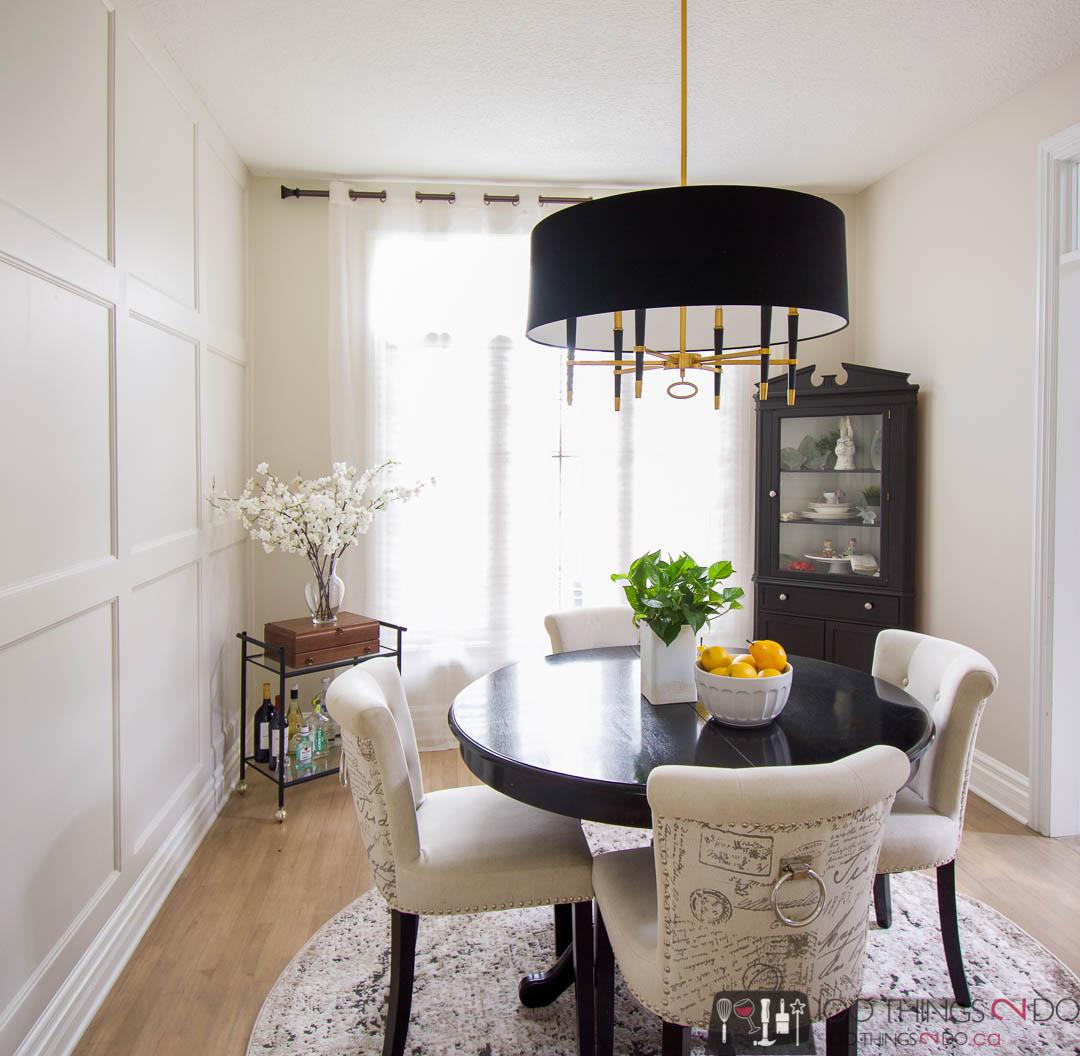 Dining room chandelier, Black chandelier, Dainolite Langford, LAN-246C