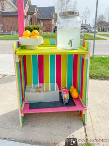 building plans for a lemonade stand, DIY lemonade stand, folding lemonade stand, collapsible lemonade stand