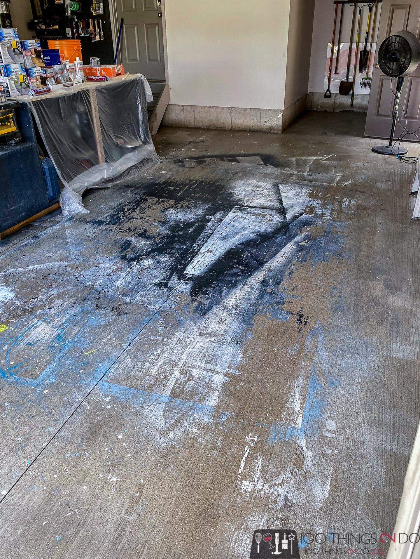 pressure wash the garage floor