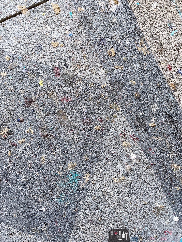 wood glue on concrete floor