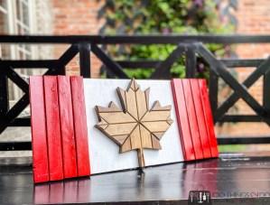 Canadian flag wood sign, wood Canadian flag, wood maple leaf, DIY Canadian flag
