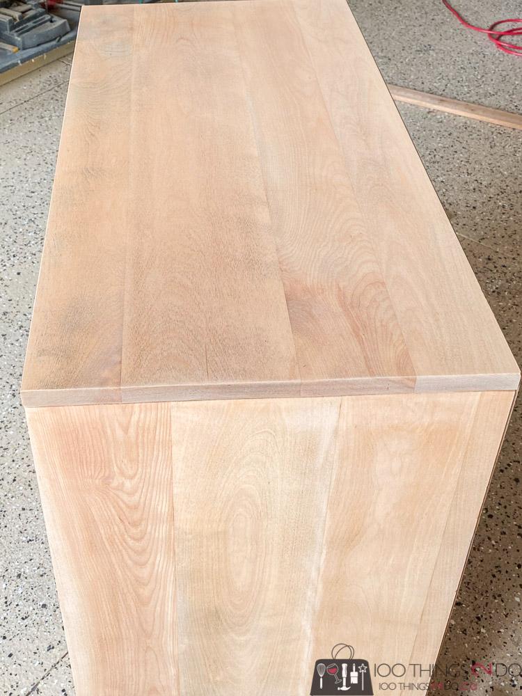 sanding maple dresser
