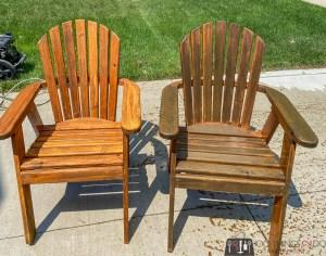 refinishing Muskoka chairs, Muskoka chair makeover, refinishing Adirondack chairs