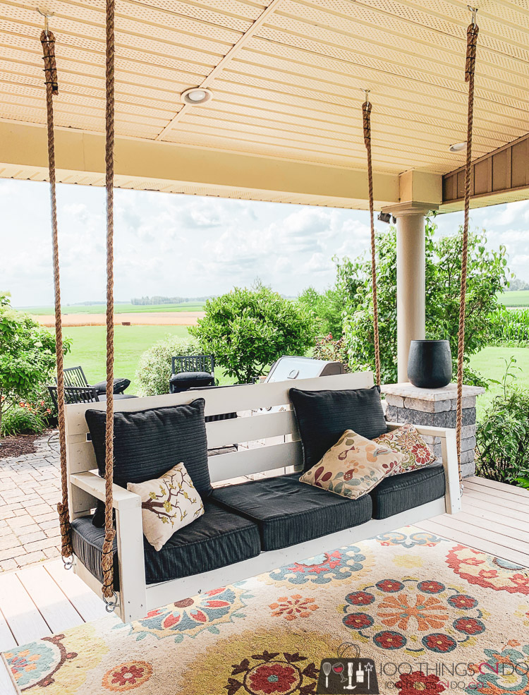 one day porch swing, diy porch swing, Ana White porch swing, simple porch swing