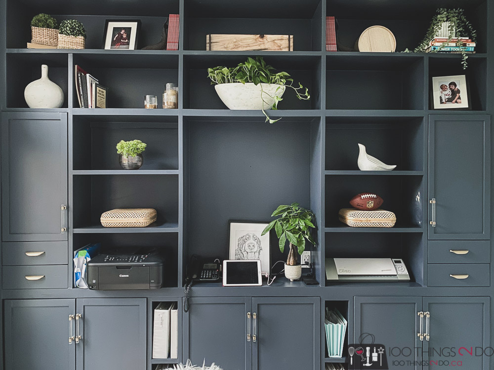 Home office built-ins, Hale Navy