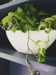 thrift store planter, planter makeover, thrift store planter makeover, DIY faux pottery planter, faux antique planter