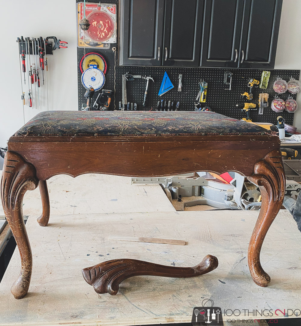 antique footstool
