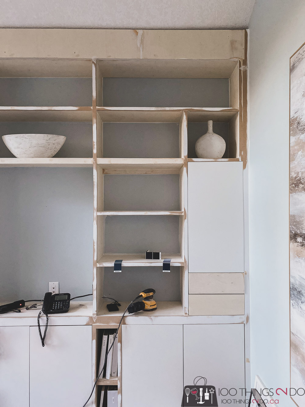 trimming out home office built-ins