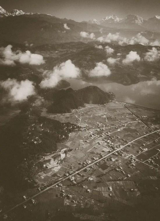 Pokhara aerial view