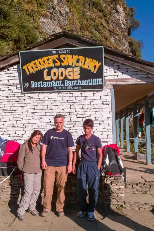 Ang CeCi Sherpa, myself and Bishnu