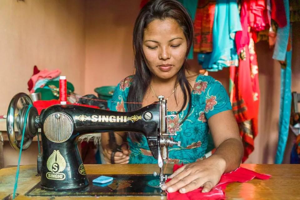 Seamstress in Nepal
