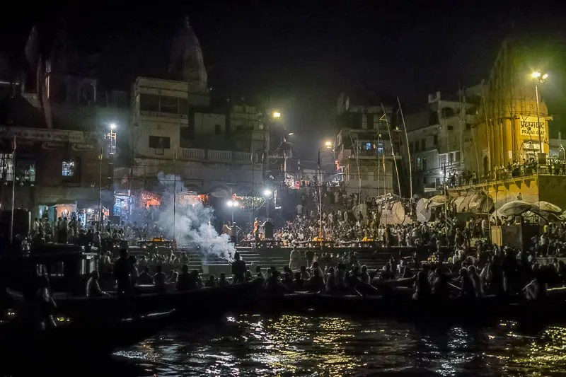Night ceremony, Varanasi