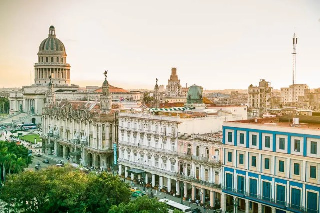 The Capitol, opera and Inglaterra hotel in Havana