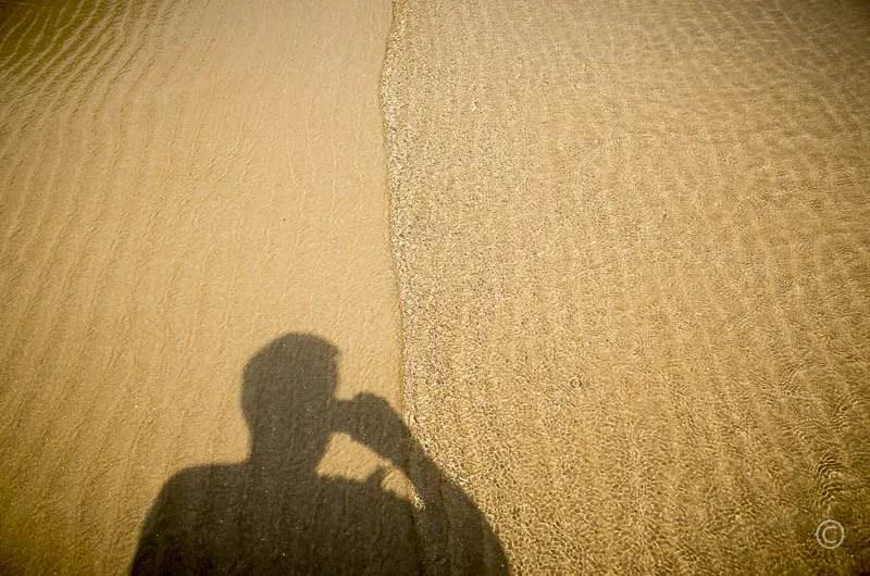 Lonely beaches - self-portrait