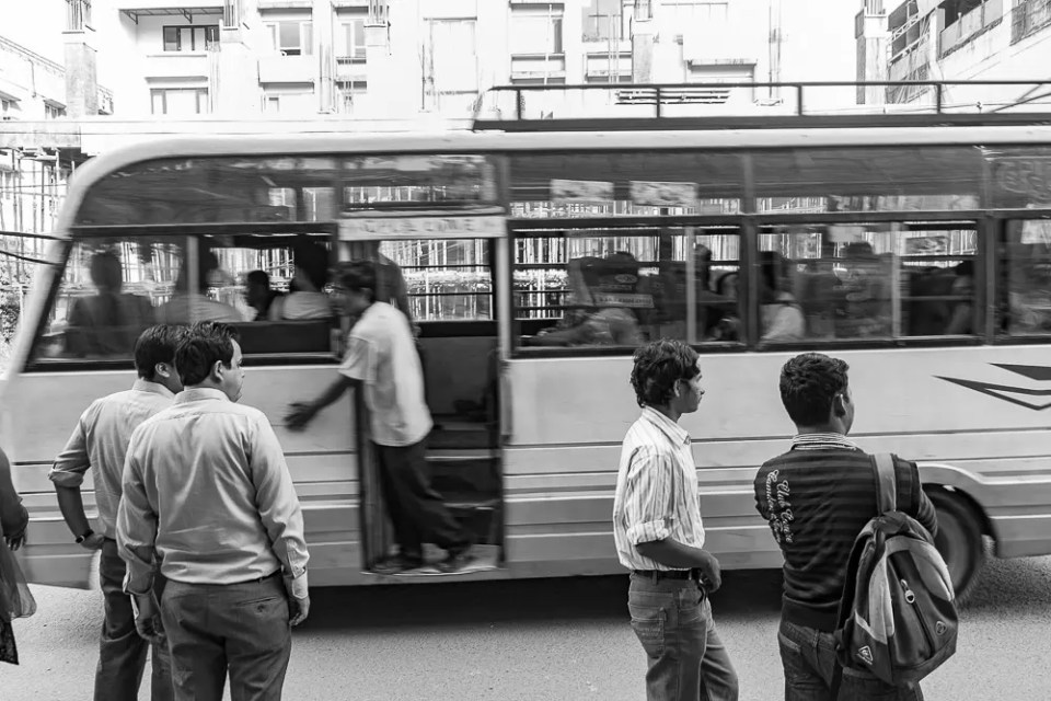 Kathmandu rush hour traffic