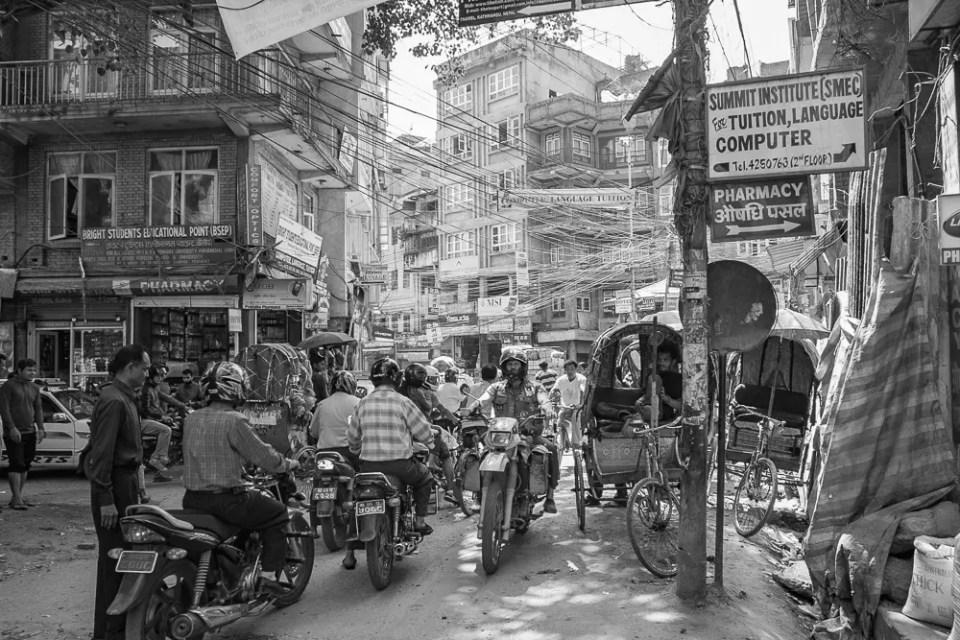 Busy traffic in Kathmandu