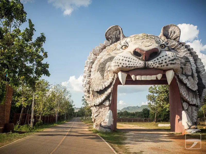 The road to Tiger Temple Thailand