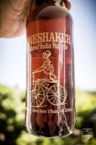 Boneshaker beer bottle