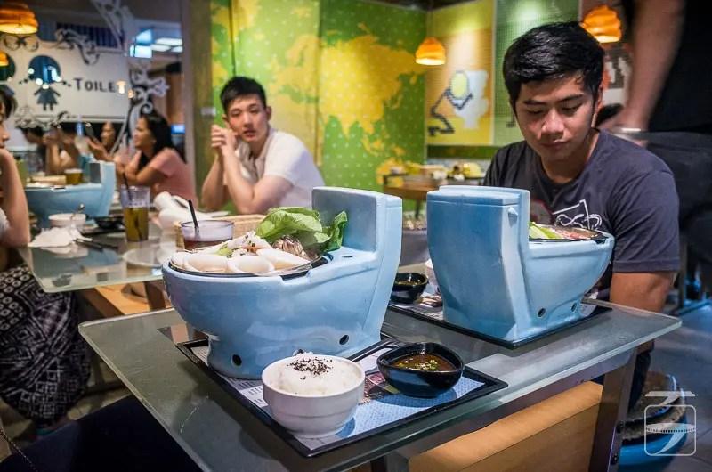 Toilet restaurant food