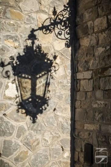 Peles Castle Lantern Shadow