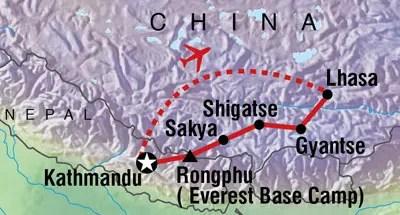 Tibet itinerary