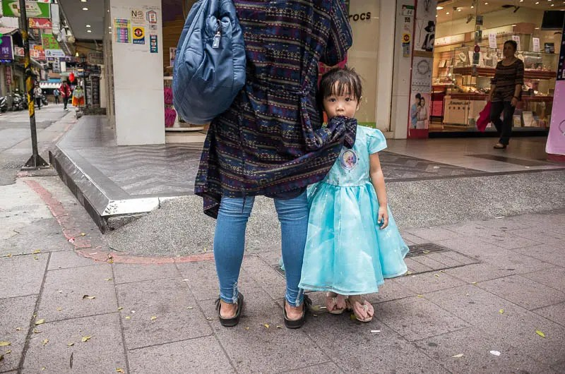 Taipei street photography: the little princess
