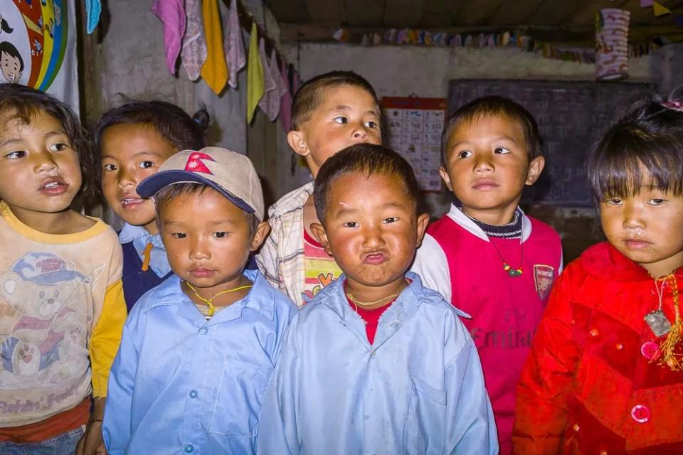 Kindergarten children – Mountain school, Annapurna