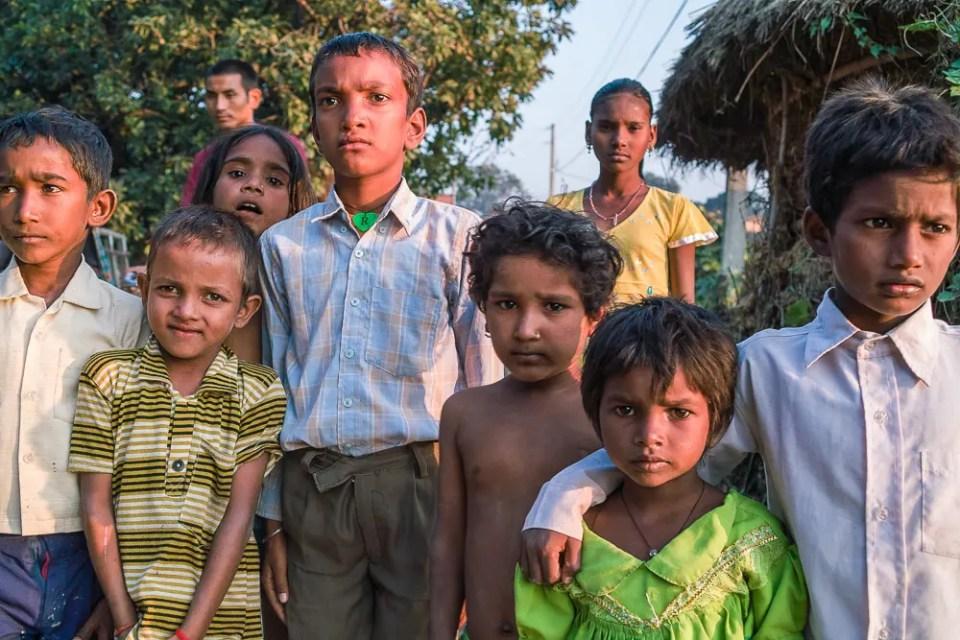 Village children – Chitwan area, close to the Indian border