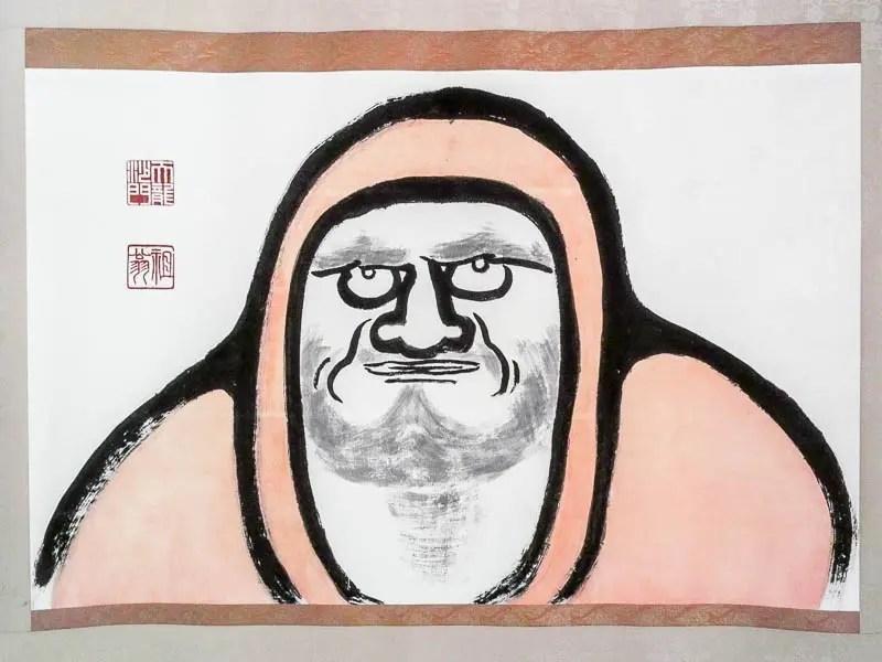 Daruma painting