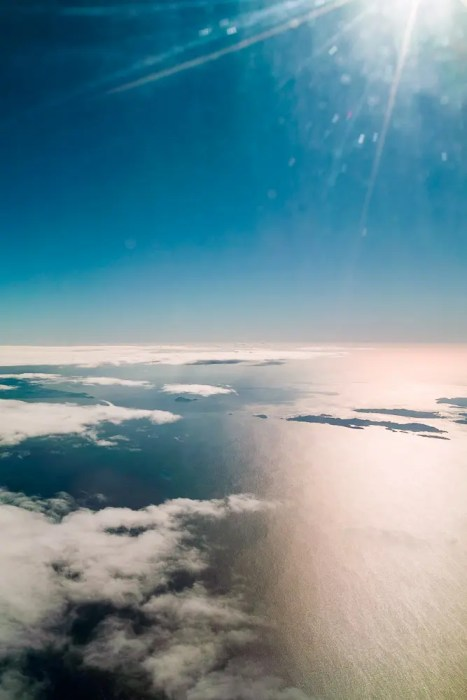 Above clouds, Pacific Ocean