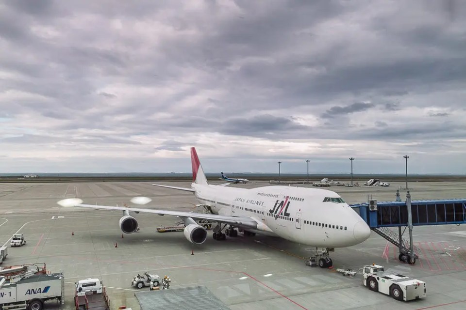 Japan Airlines Boeing 747, Nagoya Airport