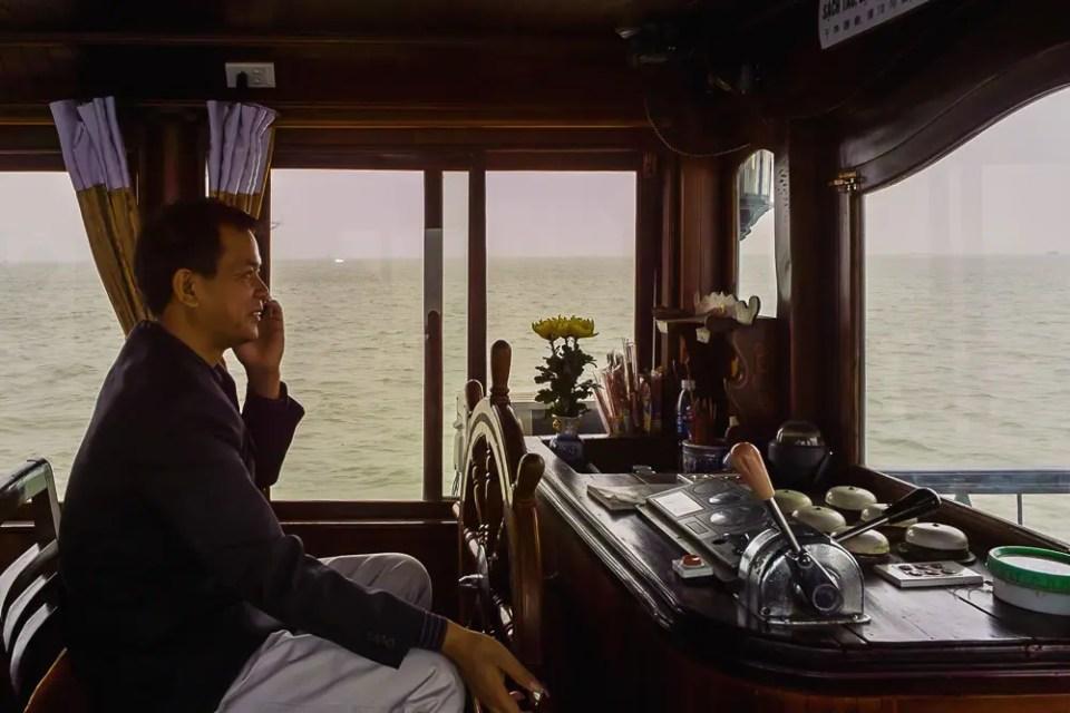 Junk boat captain