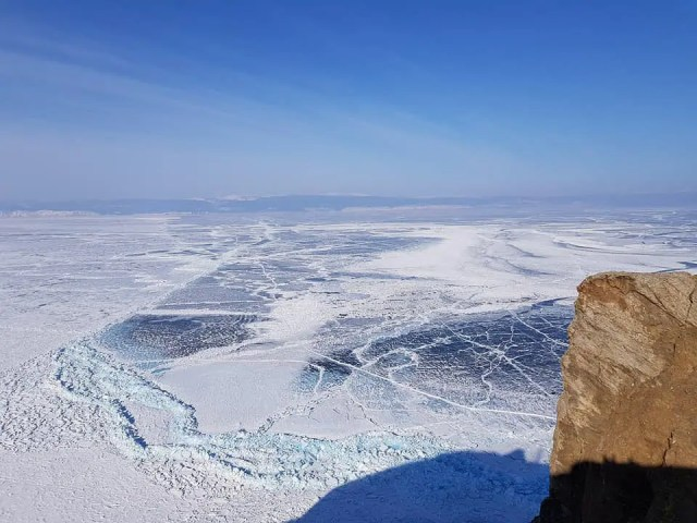 Lake Baikal. winter