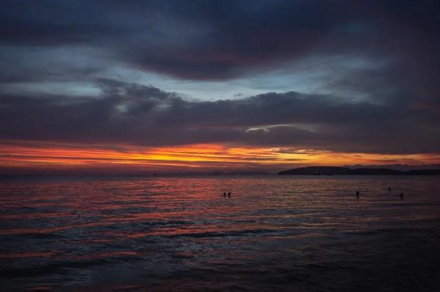 Fire sunset, Ao Nang, Krabi