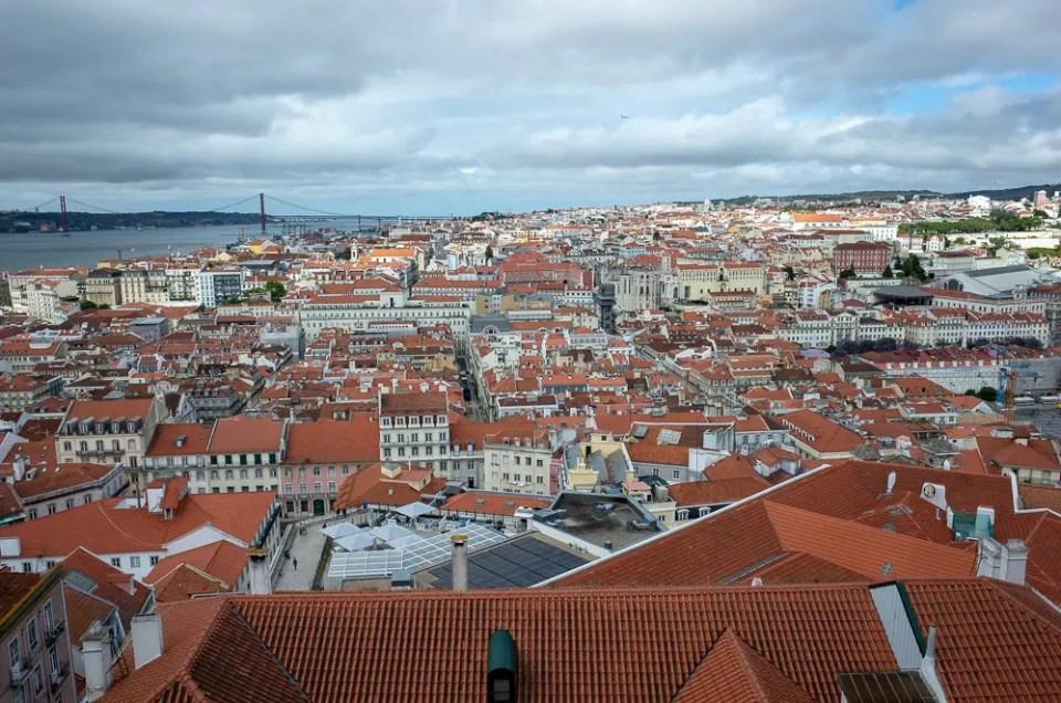 Lisbon aerial view