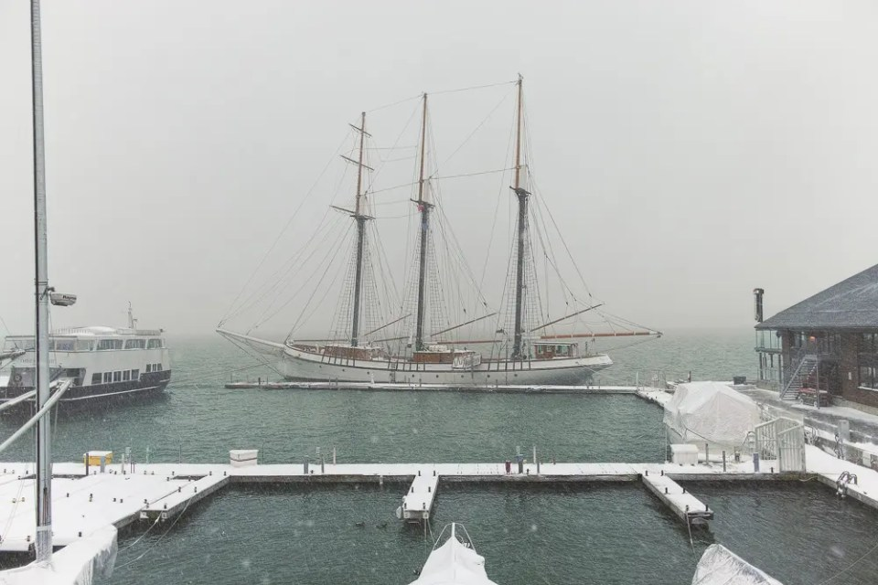 Tall ship, winter