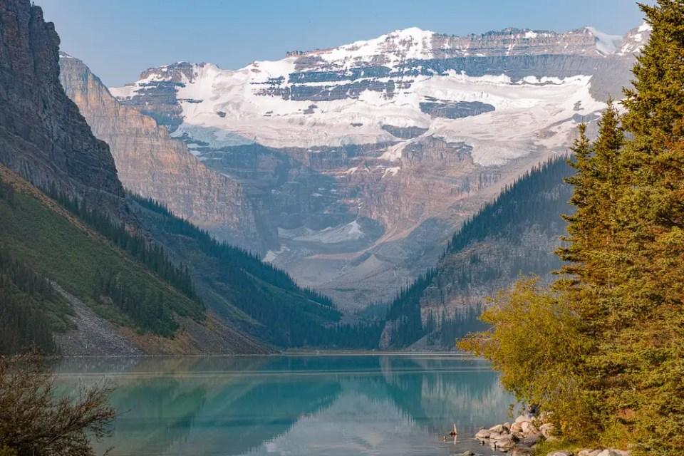 Lake Louise mountain close-up