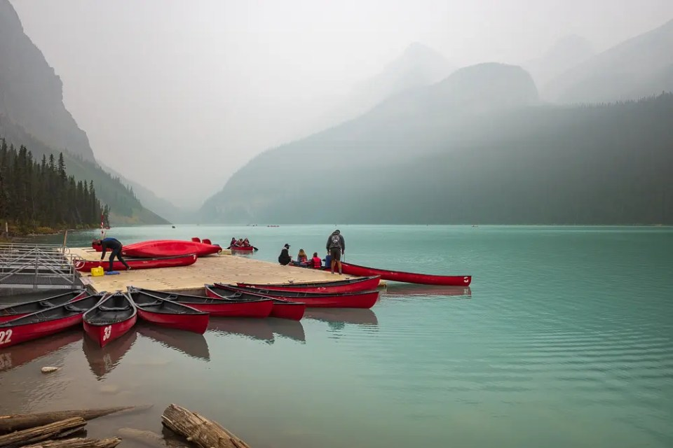 Canoe rentals at Lake Louise