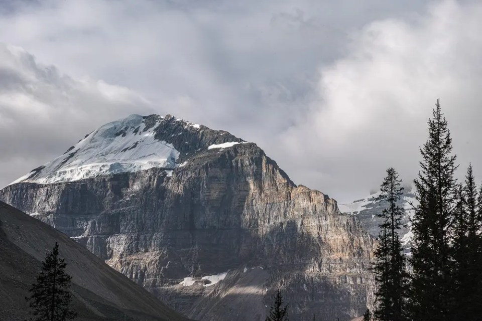 Mountain top and glacier