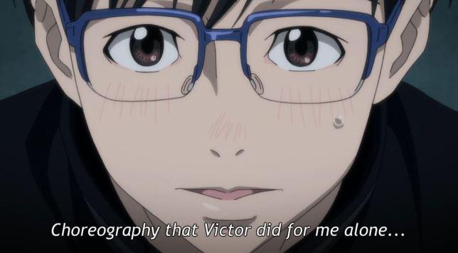 Yuri on Ice Episode 3 - Yuri watches Victor