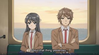 Bunny Girl Senpai - Episode 1 - Mai Sakurajima and Sakuta Azusagawa