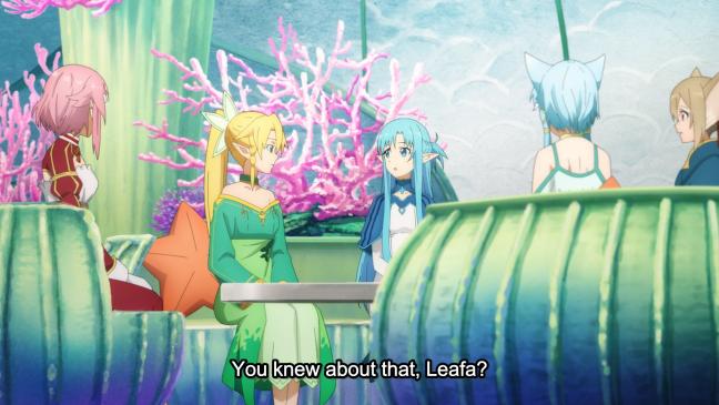 Sword Art Online Alicization Episode 5 - Leafa and Asuna