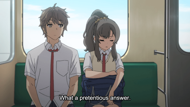 Bunny Girl Senpai Episode 8 Futaba and Sakuta