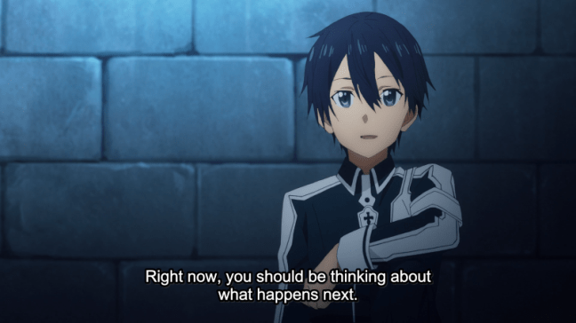 Sword Art Online Alicization Episode 11 Kirito