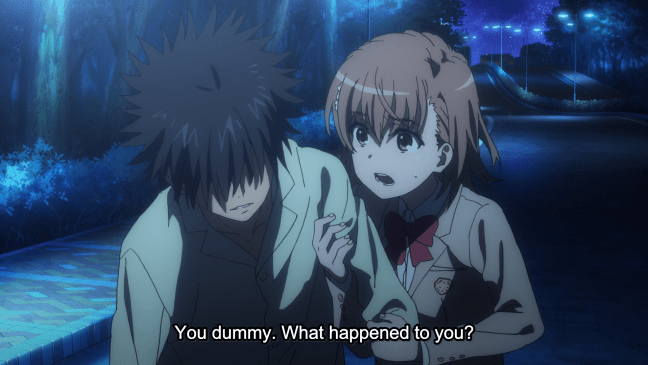 A Certain Magical Index Season 3 Episode 9 Touma and Misaka
