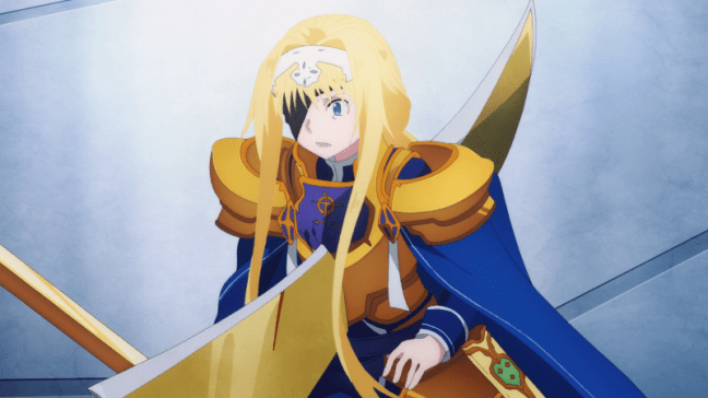Sword Art Online Alicization Episode 22 Alice is stabbed
