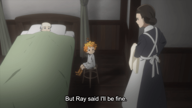 The Promised Neverland - Norman sick, Emma visiting