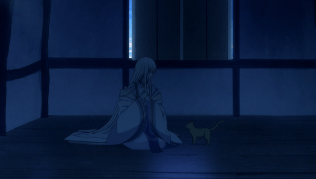 God and the cat. Image from Fruits Basket 2021.