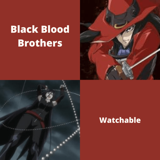 Black Blood Brothers Anime Review